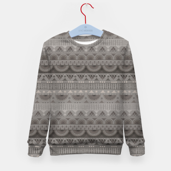Thumbnail image of Tribal Pattern - 11 Soft Grey Kid's sweater, Live Heroes