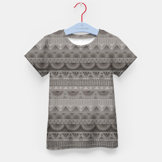 Thumbnail image of Tribal Pattern - 11 Soft Grey Kid's t-shirt, Live Heroes