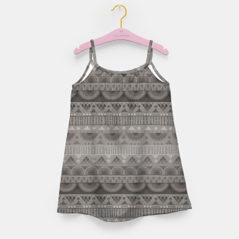 Thumbnail image of Tribal Pattern - 11 Soft Grey Girl's dress, Live Heroes