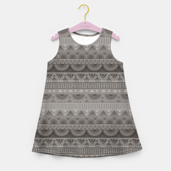 Thumbnail image of Tribal Pattern - 11 Soft Grey Girl's summer dress, Live Heroes