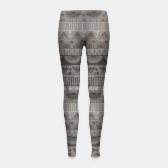 Thumbnail image of Tribal Pattern - 11 Soft Grey Girl's leggings, Live Heroes