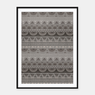 Thumbnail image of Tribal Pattern - 11 Soft Grey Framed poster, Live Heroes