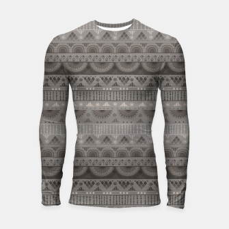 Thumbnail image of Tribal Pattern - 11 Soft Grey Longsleeve rashguard , Live Heroes