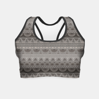 Thumbnail image of Tribal Pattern - 11 Soft Grey Crop Top, Live Heroes