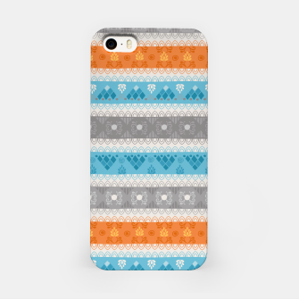 Thumbnail image of Tribal Pattern - 12 Orange Blue Stripe iPhone Case, Live Heroes
