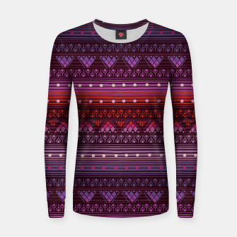 Thumbnail image of Tribal Pattern - 13 Reddish Pink Women sweater, Live Heroes