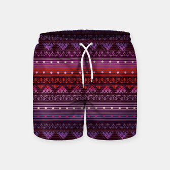 Thumbnail image of Tribal Pattern - 13 Reddish Pink Swim Shorts, Live Heroes