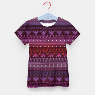 Thumbnail image of Tribal Pattern - 13 Reddish Pink Kid's t-shirt, Live Heroes