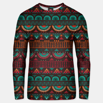 Thumbnail image of Tribal Pattern - 14 Red Green Unisex sweater, Live Heroes