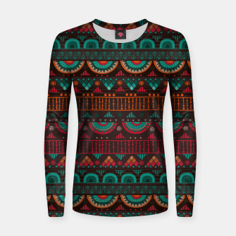 Thumbnail image of Tribal Pattern - 14 Red Green Women sweater, Live Heroes