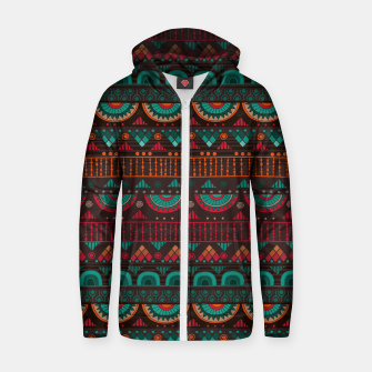 Thumbnail image of Tribal Pattern - 14 Red Green Zip up hoodie, Live Heroes