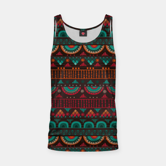 Thumbnail image of Tribal Pattern - 14 Red Green Tank Top, Live Heroes