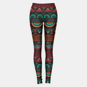Thumbnail image of Tribal Pattern - 14 Red Green Leggings, Live Heroes