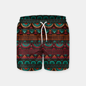 Thumbnail image of Tribal Pattern - 14 Red Green Swim Shorts, Live Heroes