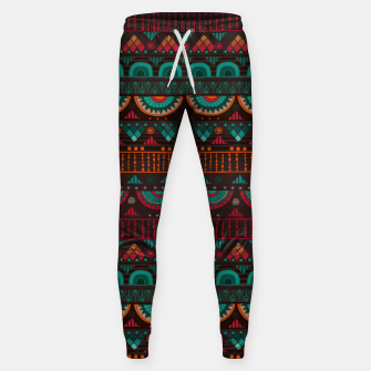 Thumbnail image of Tribal Pattern - 14 Red Green Sweatpants, Live Heroes