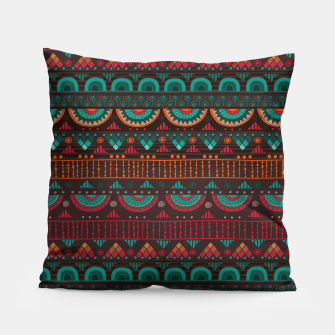 Thumbnail image of Tribal Pattern - 14 Red Green Pillow, Live Heroes
