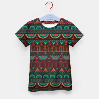 Thumbnail image of Tribal Pattern - 14 Red Green Kid's t-shirt, Live Heroes