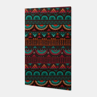 Thumbnail image of Tribal Pattern - 14 Red Green Canvas, Live Heroes