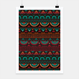 Thumbnail image of Tribal Pattern - 14 Red Green Poster, Live Heroes