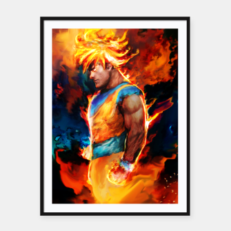 Thumbnail image of dragon ball Framed poster, Live Heroes
