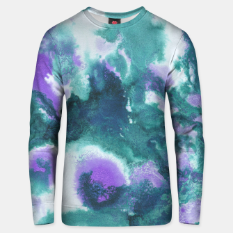 Teal Purple Mermaid Ocean Abstract Painting #1 #ink #decor #art  Unisex sweatshirt obraz miniatury