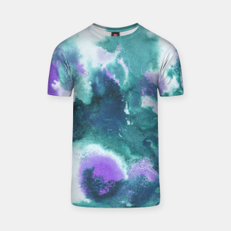 Teal Purple Mermaid Ocean Abstract Painting #1 #ink #decor #art  T-Shirt obraz miniatury