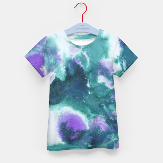 Teal Purple Mermaid Ocean Abstract Painting #1 #ink #decor #art  T-Shirt für kinder obraz miniatury