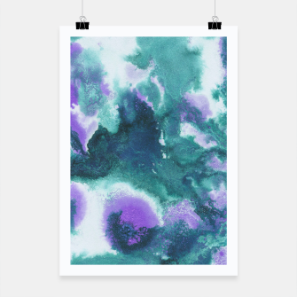 Teal Purple Mermaid Ocean Abstract Painting #1 #ink #decor #art  Plakat obraz miniatury