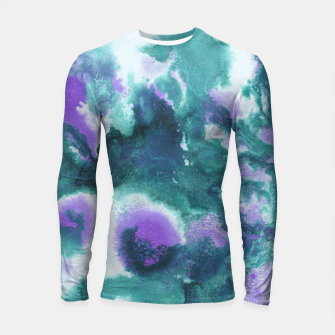 Teal Purple Mermaid Ocean Abstract Painting #1 #ink #decor #art  Longsleeve rashguard obraz miniatury