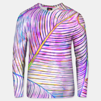 Thumbnail image of Ultraviolet Banana Leaves Unisex sweater, Live Heroes
