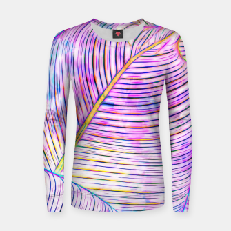 Thumbnail image of Ultraviolet Banana Leaves Women sweater, Live Heroes