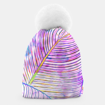 Thumbnail image of Ultraviolet Banana Leaves Beanie, Live Heroes