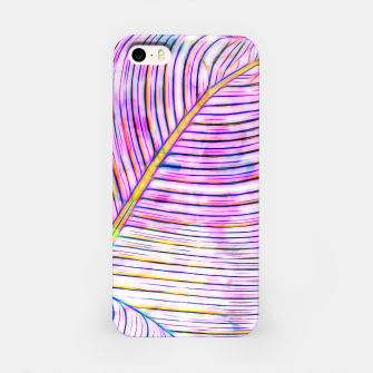 Thumbnail image of Ultraviolet Banana Leaves iPhone Case, Live Heroes