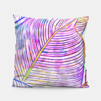 Thumbnail image of Ultraviolet Banana Leaves Pillow, Live Heroes