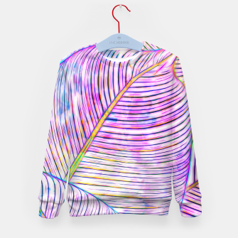Thumbnail image of Ultraviolet Banana Leaves Kid's sweater, Live Heroes