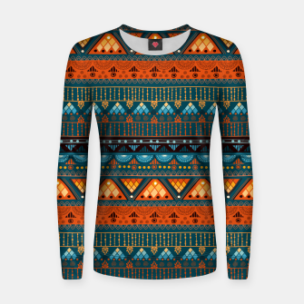 Thumbnail image of Tribal Pattern - 15 Orange Blue Women sweater, Live Heroes