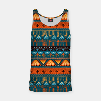 Thumbnail image of Tribal Pattern - 15 Orange Blue Tank Top, Live Heroes