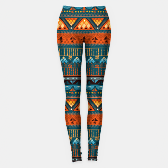 Thumbnail image of Tribal Pattern - 15 Orange Blue Leggings, Live Heroes