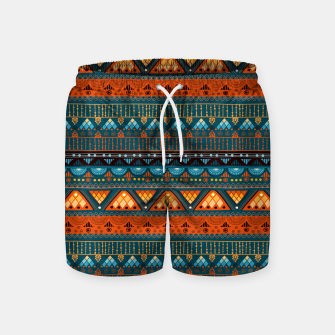 Thumbnail image of Tribal Pattern - 15 Orange Blue Swim Shorts, Live Heroes