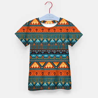 Thumbnail image of Tribal Pattern - 15 Orange Blue Kid's t-shirt, Live Heroes