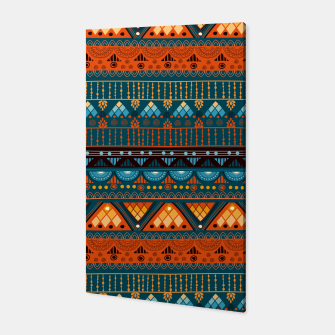 Thumbnail image of Tribal Pattern - 15 Orange Blue Canvas, Live Heroes