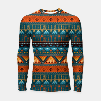 Thumbnail image of Tribal Pattern - 15 Orange Blue Longsleeve rashguard , Live Heroes