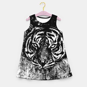 Thumbnail image of tiger head portrait wsbwb Girl's summer dress, Live Heroes
