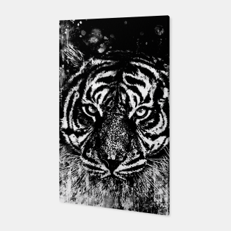 Thumbnail image of tiger head portrait wsbwb Canvas, Live Heroes