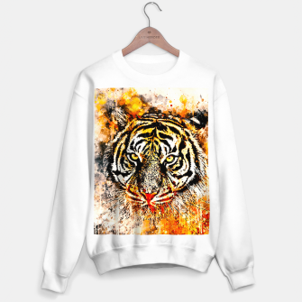Thumbnail image of tiger head portrait wsw Sweater regular, Live Heroes