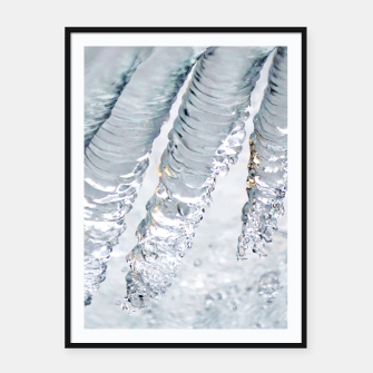 Natural ice sculpture  Framed poster miniature