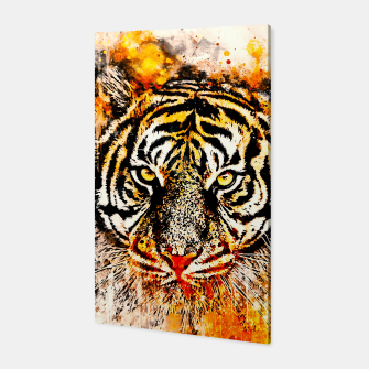 Thumbnail image of tiger head portrait wsw Canvas, Live Heroes