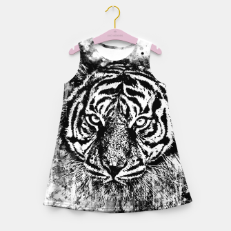 Thumbnail image of tiger head portrait wsbww Girl's summer dress, Live Heroes