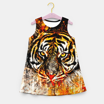 Thumbnail image of tiger head portrait wsb Girl's summer dress, Live Heroes