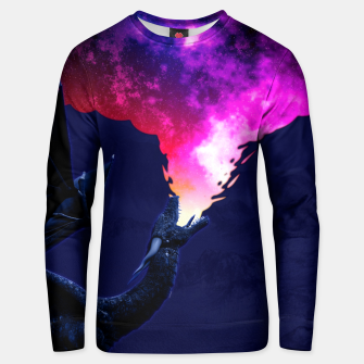Cosmic Dragon Fantasy Illustration Unisex sweatshirt obraz miniatury